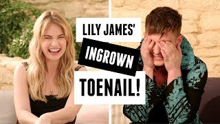 Lily James on crying the first time she met Meryl Streep!   Mamma Mia 2 interview!