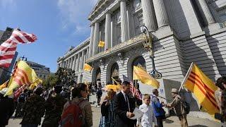 San Francisco: Biểu tình rầm rộ chống cờ Đỏ của Việt cộng ngày 2/9/2016.