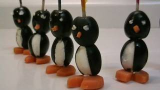Aperitivos: Pingüinos de aceituna