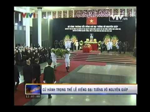 Cử hành trọng thể lễ viếng Đại tướng Võ Nguyên Giáp
