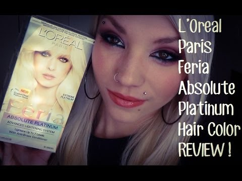 Oreal Paris Feria Absolute Platinum Hair Dye REVIEW!