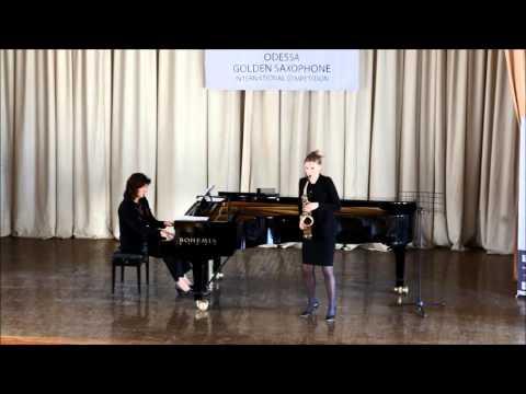 Golden Saxophone 2015 – Valentine Michaud – Edison Denisov , Sonata