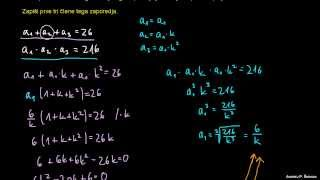 Končna geometrijska vrsta – naloga 3