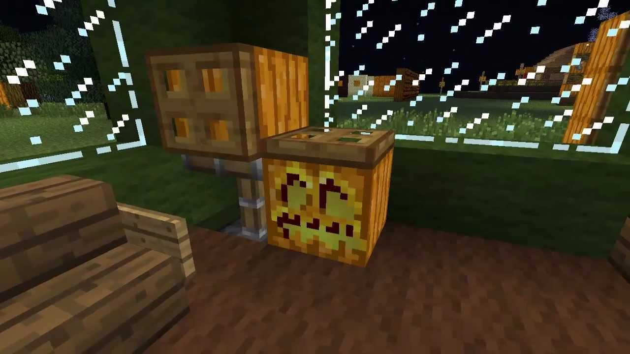 Minecraft ideen zu k rbis und jack o lantern teil 3 4 for Minecraft dekoration