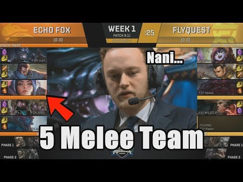 [CF] First 5 Melee Team In LCS - FOX VS FLY Highlights - 2018 NA LCS Summer W1D1