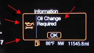 2013 Ford Fusion Oil Change Required Reset