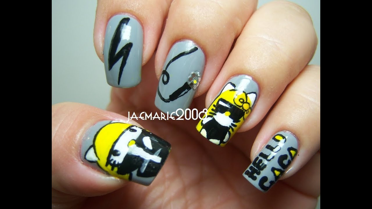 HELLO GAGA!!!- Nail Art Designs - YouTube