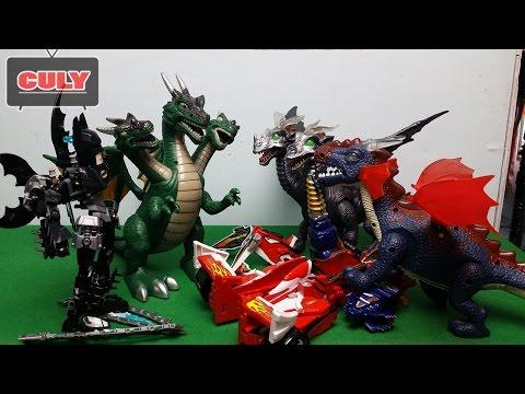 Binh đoàn khủng long quỷ đánh Robot siêu nhân hải tặc - power ranger chế phim hài vui đồ chơi trẻ em