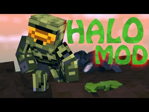 HALO MOD: Minecraft Halo Combat Evolved Mod Showcase! (Guns, Vehicles, Halo)