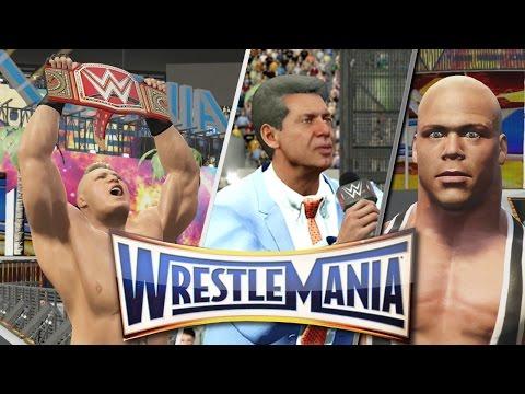 Wrestlemania 33 - Kurt Angle Returns After Lesnar vs Goldberg (WWE 2K17)
