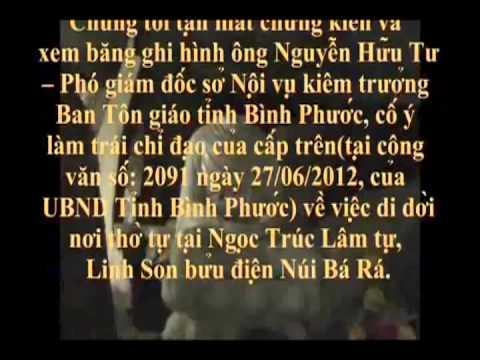 CSVN Đập Phá Tượng Phật tại Ngọc Trúc Lâm Tự, Linh Sơn Bửu Điện, Núi Bà Rá, Tỉnh Bình Phước