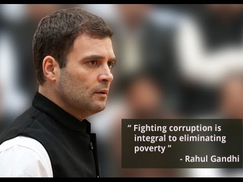Rahul Gandhi Presents a Framework Against Corruption