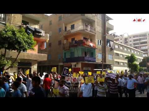 هتافات ثوار حلوان فى مسيرة حاشدة ضد السيسي و انقلابه العسكرى