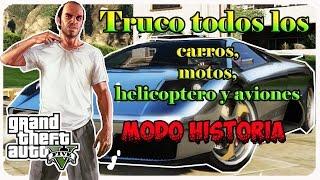 GTA V Truco Todos Los Carros, Motos, Helicoptero Y Aviones