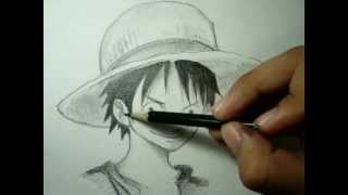 Como Desenhar Luffy Tutorial Mangá- How To Draw Luffy