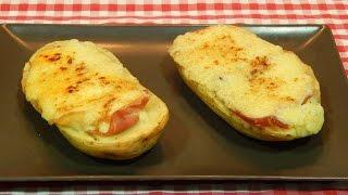 Patatas al horno con ajoaceite