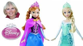 "Disney's Princess Dolls Elsa And Anna From ""Frozen"""