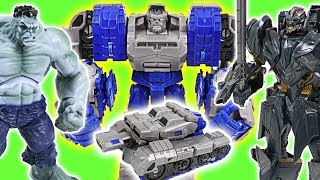 Marvel Grey Hulk and Transformers combine! Protect Pororo Zoo from Giant Spiedrs! - DuDuPopTOY