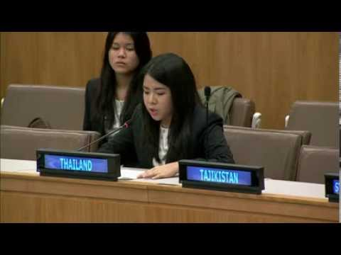 Thai Youth Delegates to the 68th United Nations General Assembly on