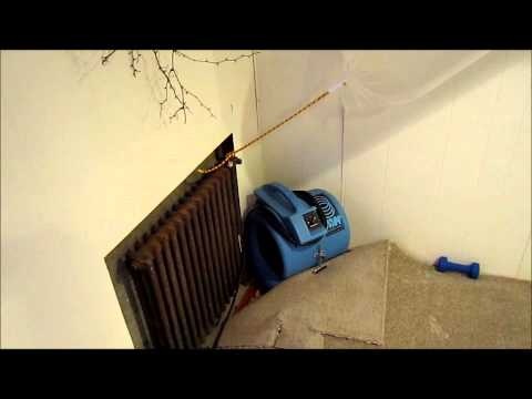using a desiccant dehumidifier to save and dry out a wet basement