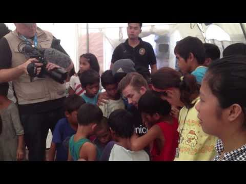 PhilippiNOW in Tacloban with David Beckham (UNICEF), 13. February 2014!