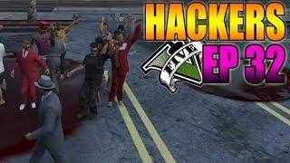 Hackers En GTA V Online #32 Bailando, Coche Lanza