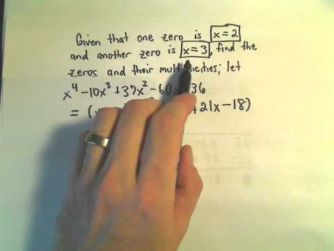 Finding all the Zeros of a Polynomial - Example 1