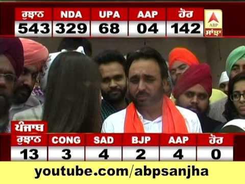 Elections Results 2014: Punjab Update: Bhagwant Maan of AAP after winning Sangrur Seat