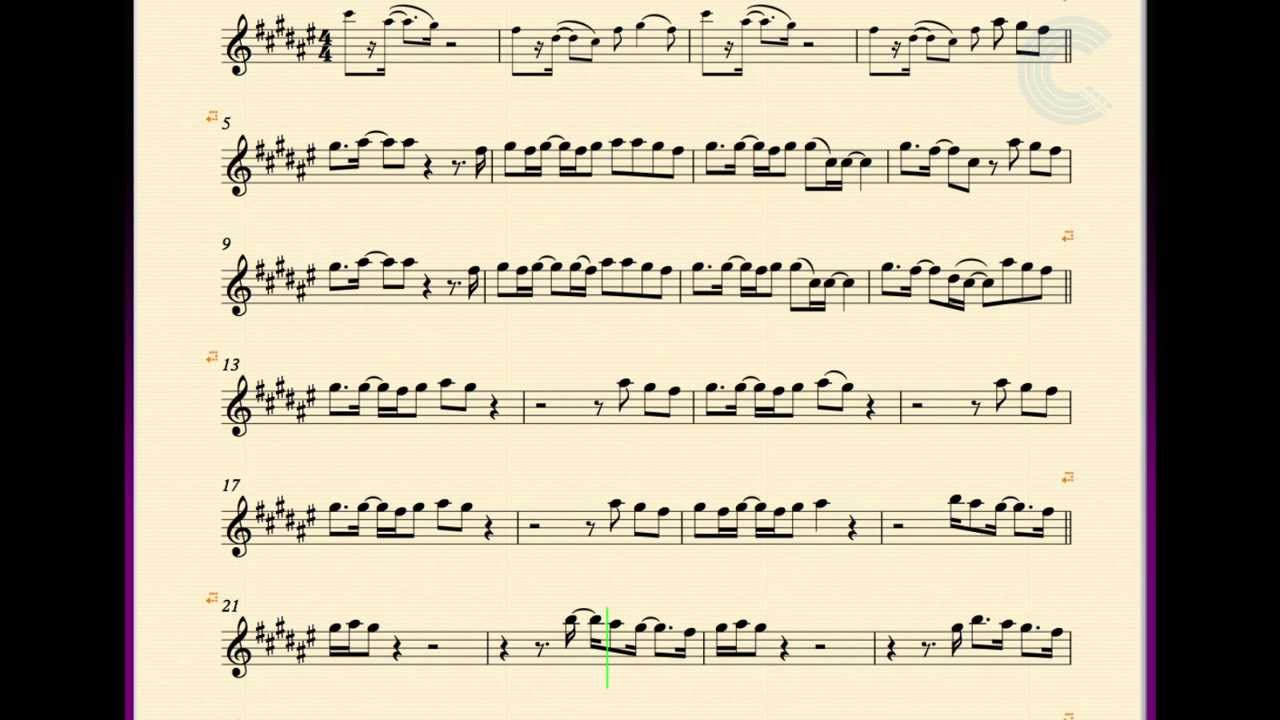 Alto saxophone hold on we re going home drake sheet music