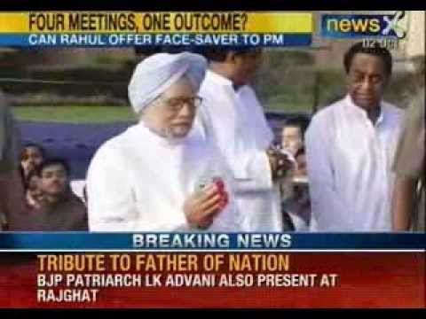NewsX : PM Manmohan Singh and Sonia Gandhi pays tribute to Mahatma Gandhi at Rajghat