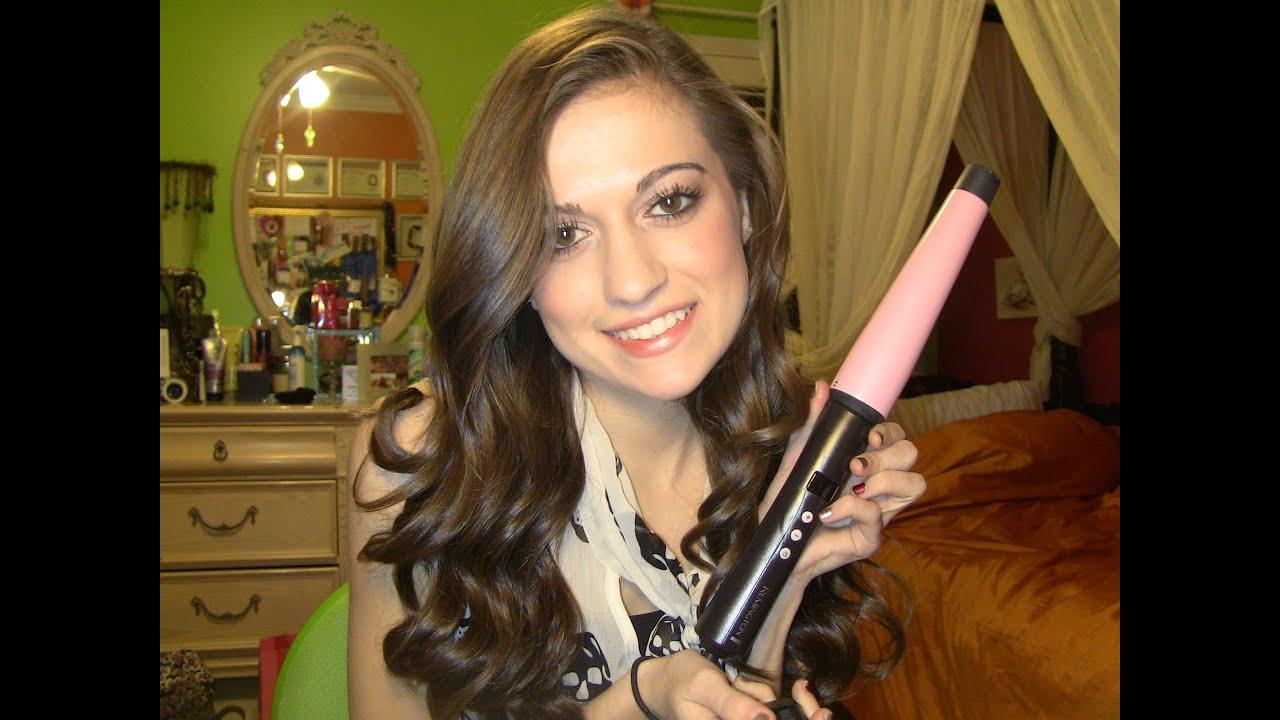 Remington Curl Wand Hair Tutorial!! - YouTube
