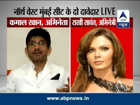 Rakhi Sawant and KRK debate LIVE over their LS candidature
