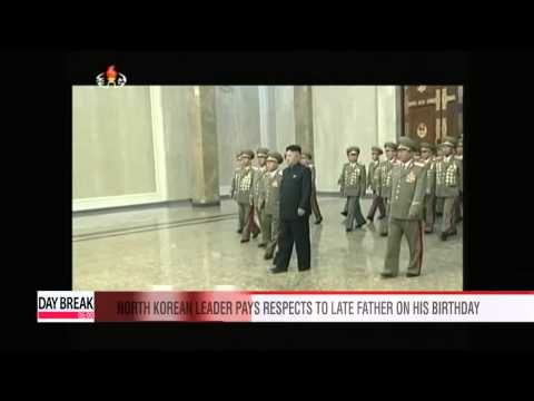 North Korean leader pays respects to late father on his 72nd birthday