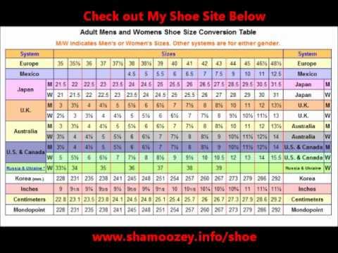 European Men S Shoe Size Converter