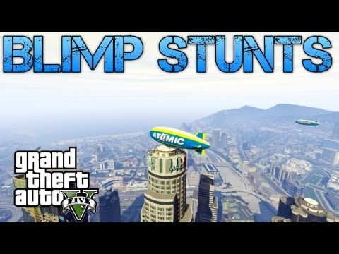 Grand Theft Auto V Challenges | BLIMP STUNTS | PS3 HD Gameplay