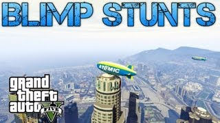 Grand Theft Auto V Challenges BLIMP STUNTS PS3 HD