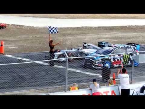 Lewis Hamilton and Ken Block
