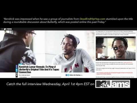 Kendrick Lamar Shouts Out Dead End Hip Hop in MTV Interview!