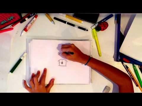 Passar seu desenho do papel vegetal para a folha branca