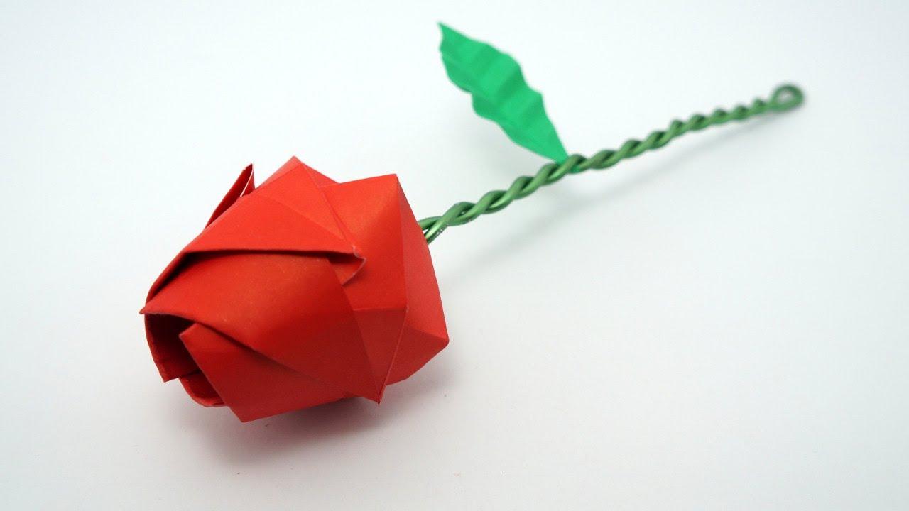 Origami Rose tutorial (Davor Vinko) - YouTube - photo#45