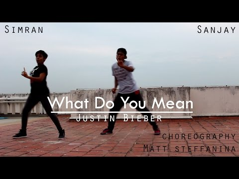 What Do You Mean - JB | Dance Cover | Matt Steffanina Choreo