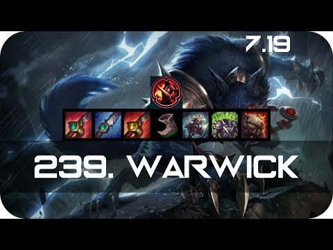Warwick Jungle vs Jax Season 7 s7 Patch 7.19 2017 Gameplay Guide Build Normals