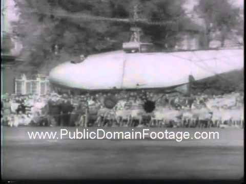 Igor Sikorsky donates first helicopter to Henry Ford 1943 newsreel archival footage