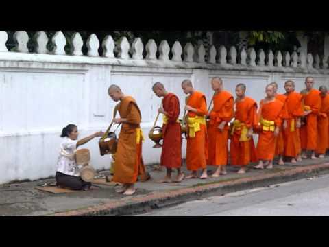 Monks' Daily Alms Collecting @Luang Prabang, Laos