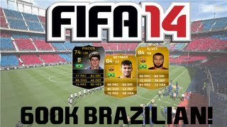 FIFA 14 Ultimate Team 600k Brazilian Squad Builder Ft