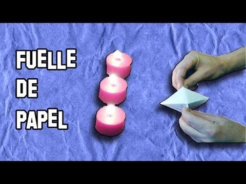 Como Hacer un Fuelle Soplillo de Origami Papiroflexia | Experimentos Caseros