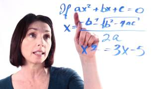 The Quadratic Formula Satisfying Conditions