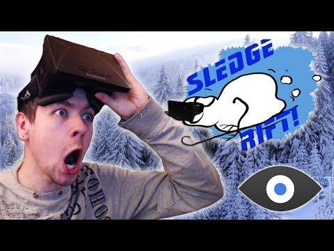 Sledgerift with the OCULUS RIFT | DASHING THROUGH THE SNOW!
