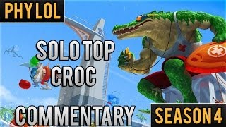 [Season 4] Solo Top Croc Renekton Gameplay Commentary