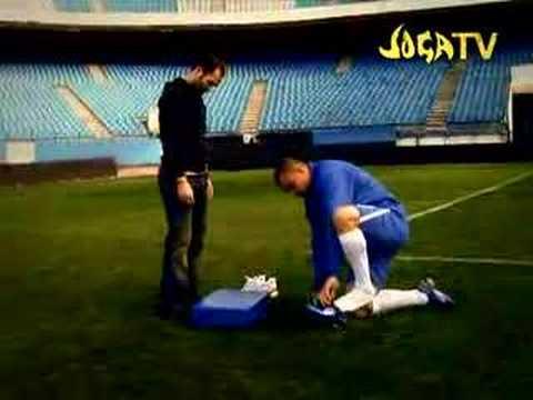 Ronaldo testet neue Fußballschuhe